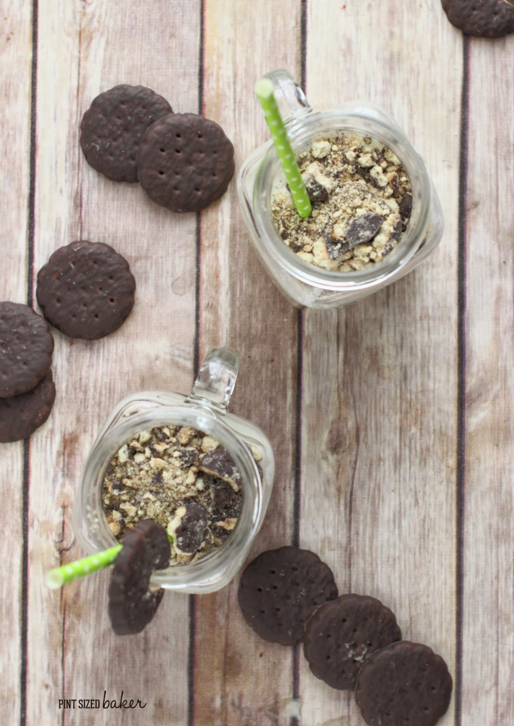 Quick, easy and delicious - I can't wait for Girl Scout Cookies every year so I can make a Thin Mint Cookie Milkshake!