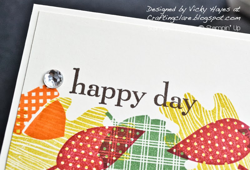 Happy Day card made with Wonderfall leaves from Stampin Up