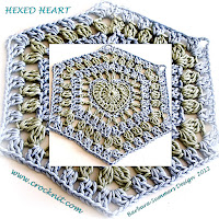 crochet patterns, hearts, hexagon hearts, afghans,