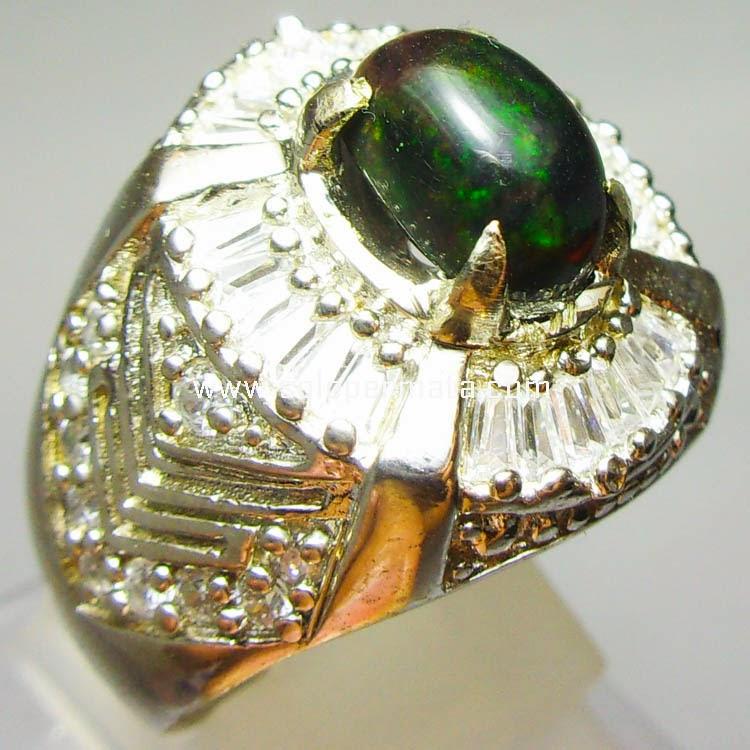Batu Permata Kalimaya Black Opal - Kode 9A08