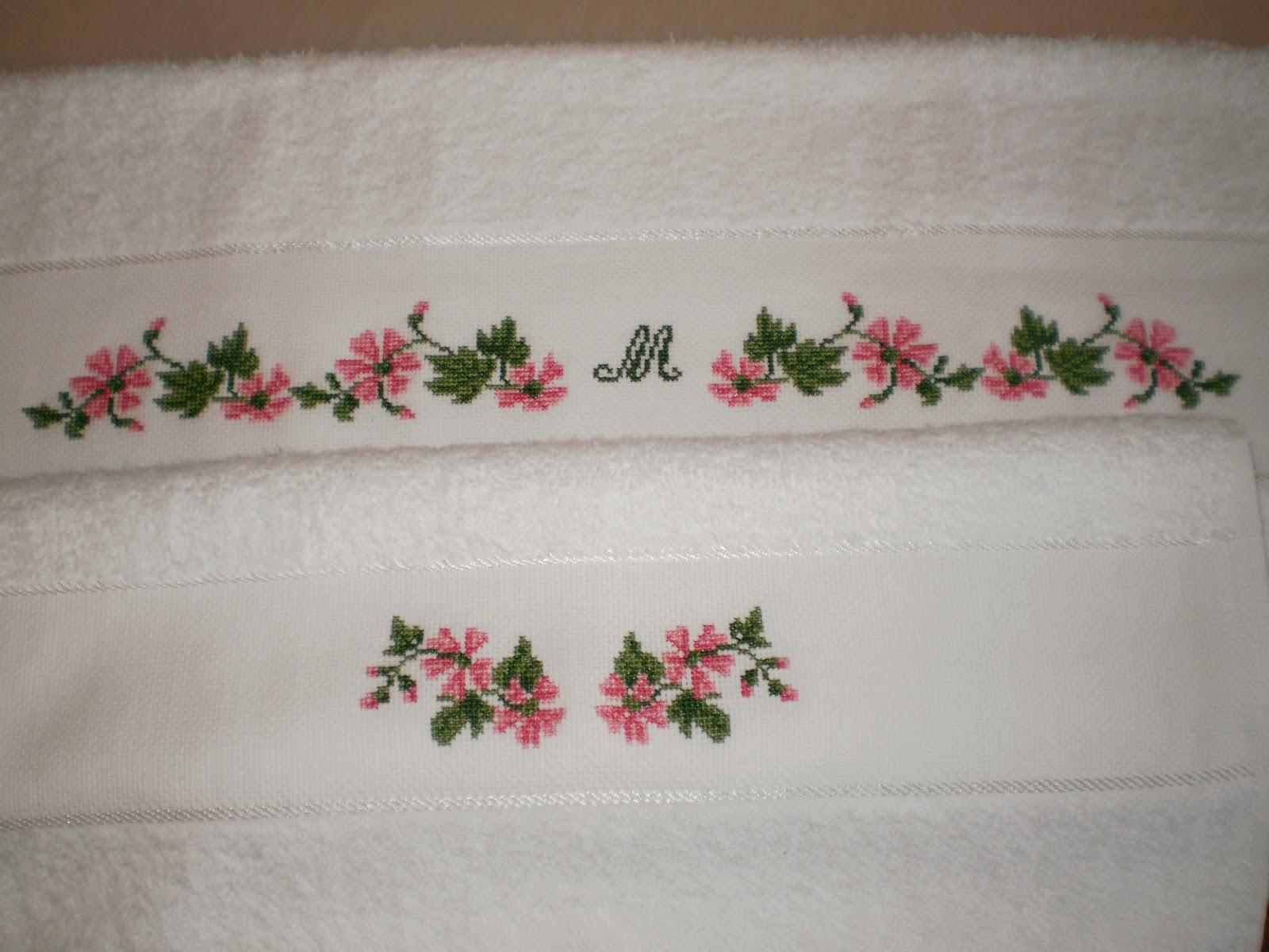 Bordados punto de cruz para toallas - Imagui
