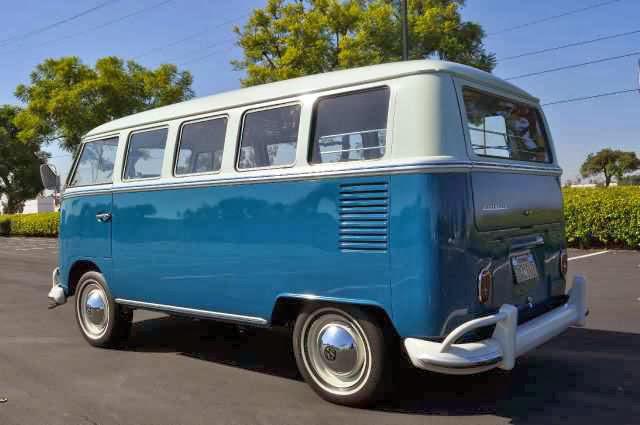 Vw bus deluxe 13 window sea blue vw bus for 13 window vw bus