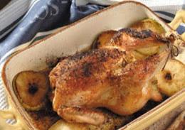 دجاج محشو بالارز والصنوبر