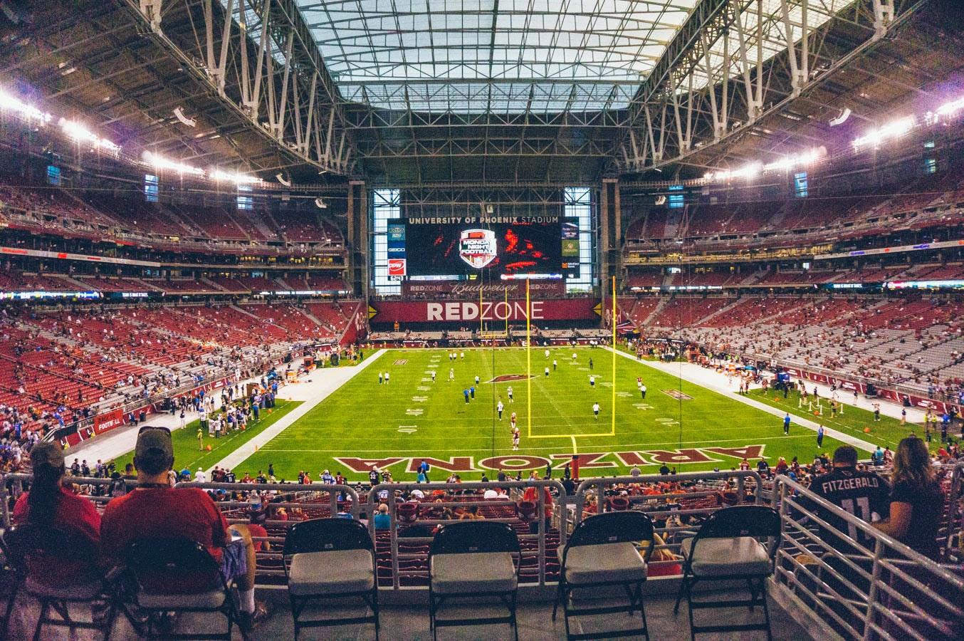 interno dello stadio prima di una partita
