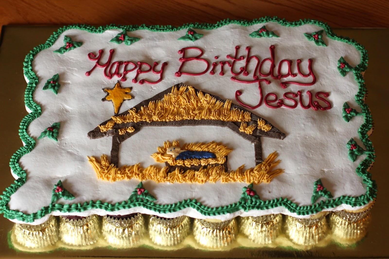 The Ganos Baby Jesus Cupcake Cake