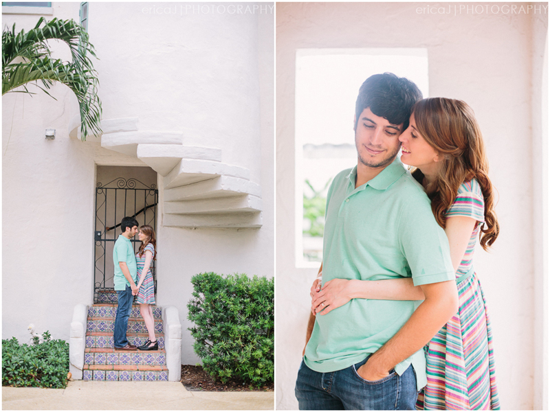 Palm beach island engagement photo