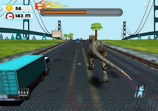 Screenshots of the Dinosaur run for Android tablet, phone.