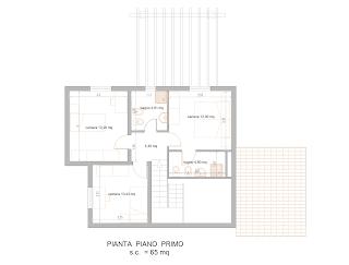 Progetti di case in legno casa 138 mq portico 20 mq for Pergola bioclimatica prezzo mq