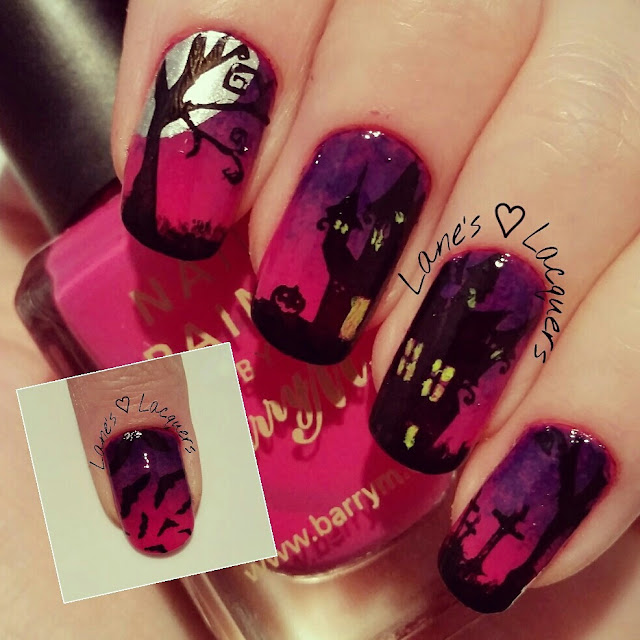 40-great-nail-art-ideas-halloween-spooky-scene-ombre-stamped-manicure (2)