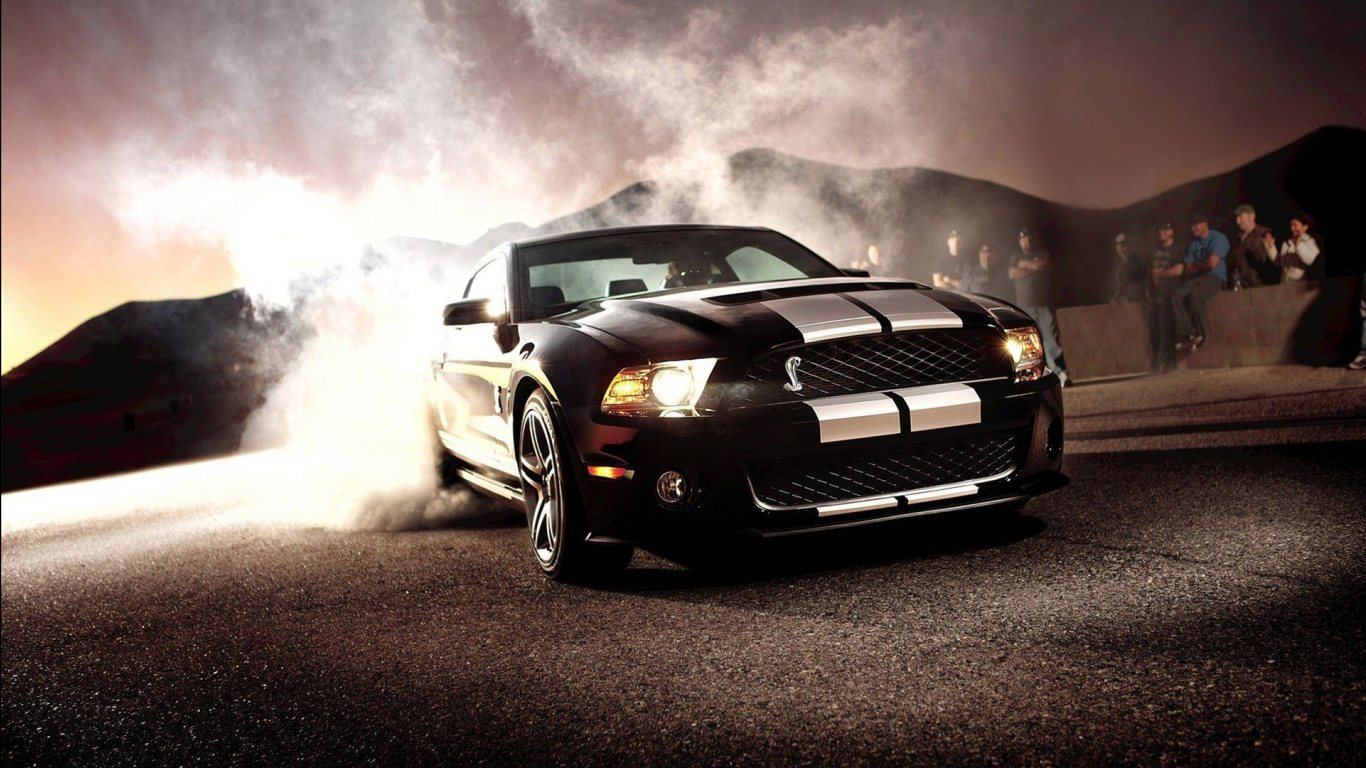 ford mustang shelby gt 500 while drift hd wallpaper hd