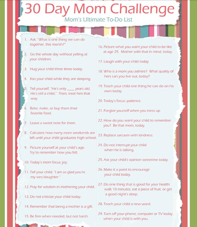 40 day challenge list