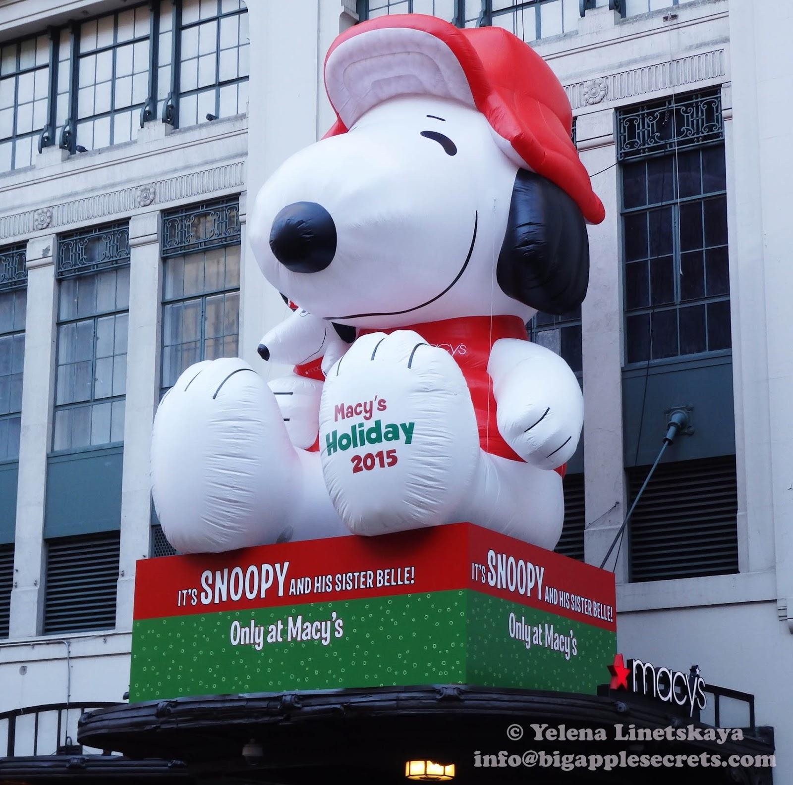 a charlie brown christmas snoopy and macys holiday windows - When Was Charlie Brown Christmas Made