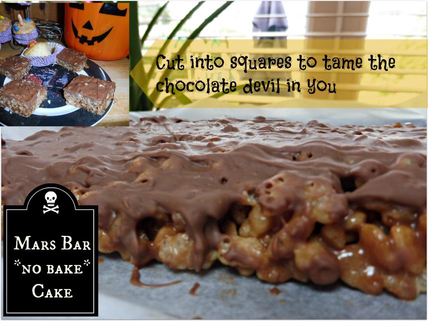 Mars Bar no bake Cake