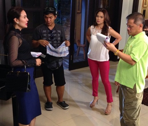 Gretchen Barretto on the set of Huwag Ka Lang Mawawala