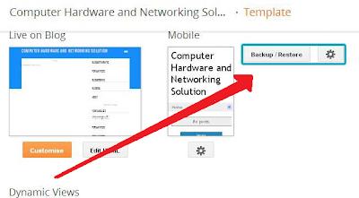 klik tombol backup/restore untuk back up template blog saudara