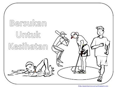 Gambar Kartun Bersenam