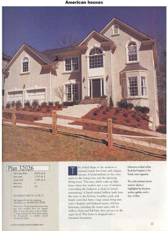 American houses plantas y fachadas de casas americanas for Casas americanas fachadas