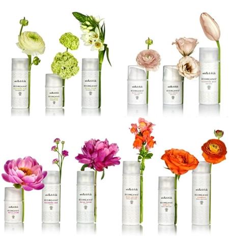 estelle & thild, ekologisk hudvård, branding with flowers