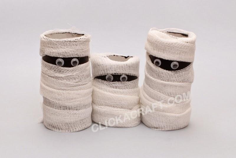 Zigzagzon rollos de papel higi nico momias - Decoracion con carton de papel higienico ...