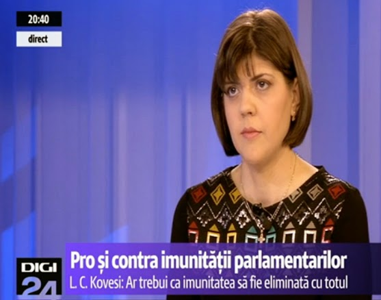 Laura Codruta Kovesi, de nota 10 la Digi24