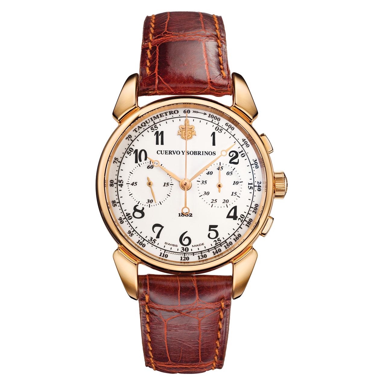 Cuervo y Sobrinos Historiador Cronógrafo Landeron Limited Edition Hand-wound Watch