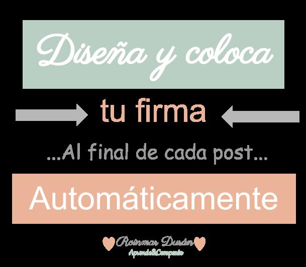 Firma-post-blogger-automatico