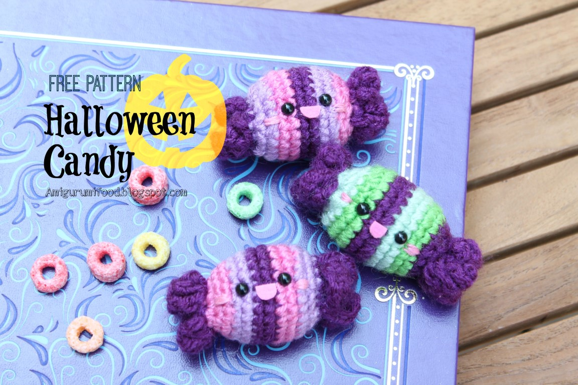 Amigurumi Halloween Free : Amigurumi food: halloween candy and bat free crochet pattern