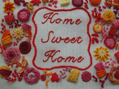 Home sweet home, 3D broderi