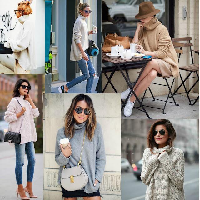 Jersey cuello alto Olivia Palermo. Jersey y tacones. Jerseys de invierno. Sweater Turtleneck. Jerseys 2016