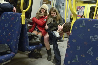 No Pants Subway Ride-5