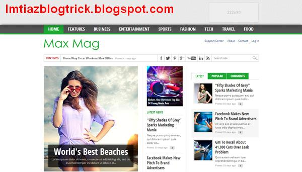 7. MaxMag – Responsive Blogger Template