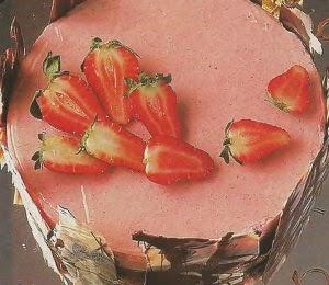 Torta mousse chocolate frambuesas