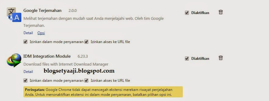 Cara Mengatasi Masalah Extension IDM Di Browser Chrome