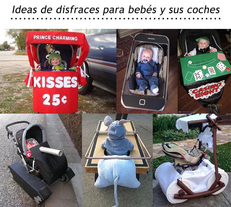 ideas para disfrazar el coche de tu bebe en hallowen