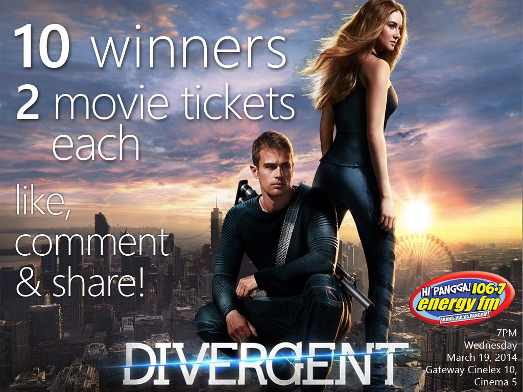 Divergent Movie Tickets Giveaway, Join Now!