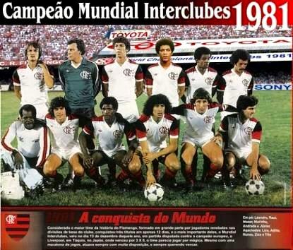FLAMENGO CAMPEÃO LIBERTADORES E MUNDIAL 1981