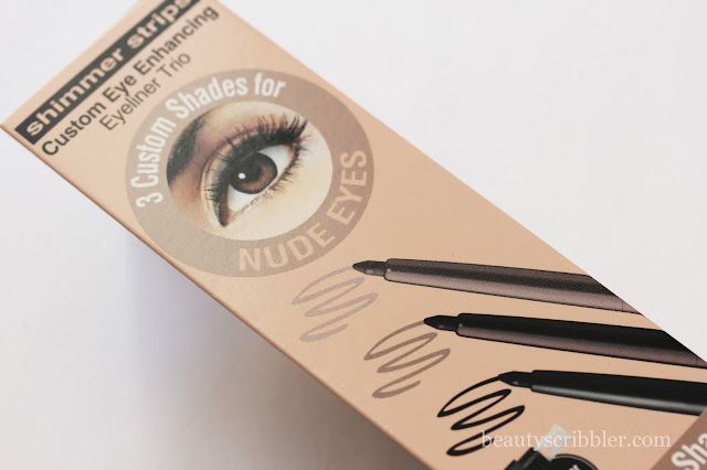 Physicians Formula Shimmer Strips Custom Eye Enhancing Eyeliner Trio Nude Eyes box