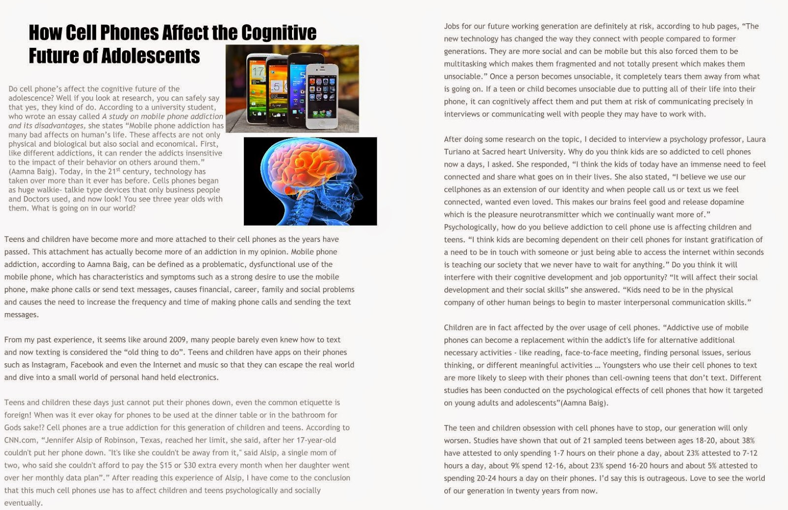 cell phone effects society essay