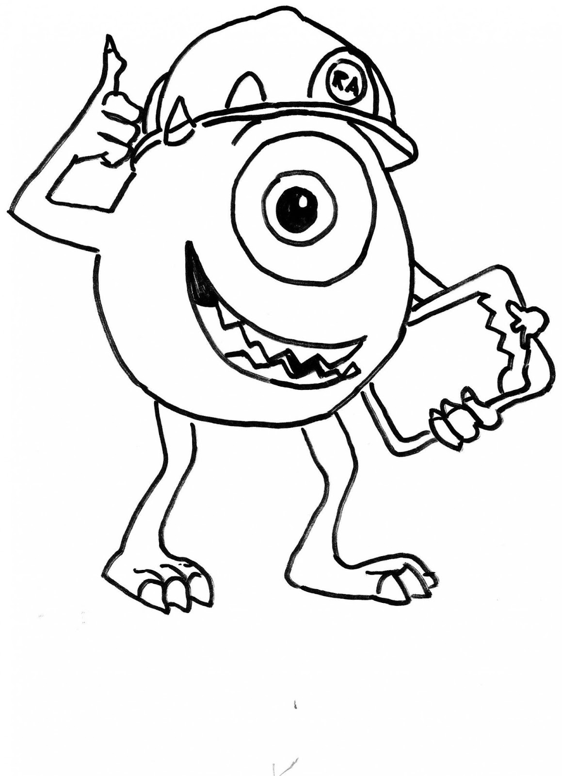Monster inc para colorear e imprimir - Imagui