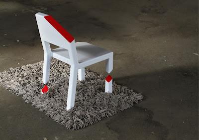 Cut Chair Peter Bristol 6 600x421 تصميم جديد لكرسي رائع ، تخيل أن تجلس على كرسي بثلاثة أرجل مكسورة !