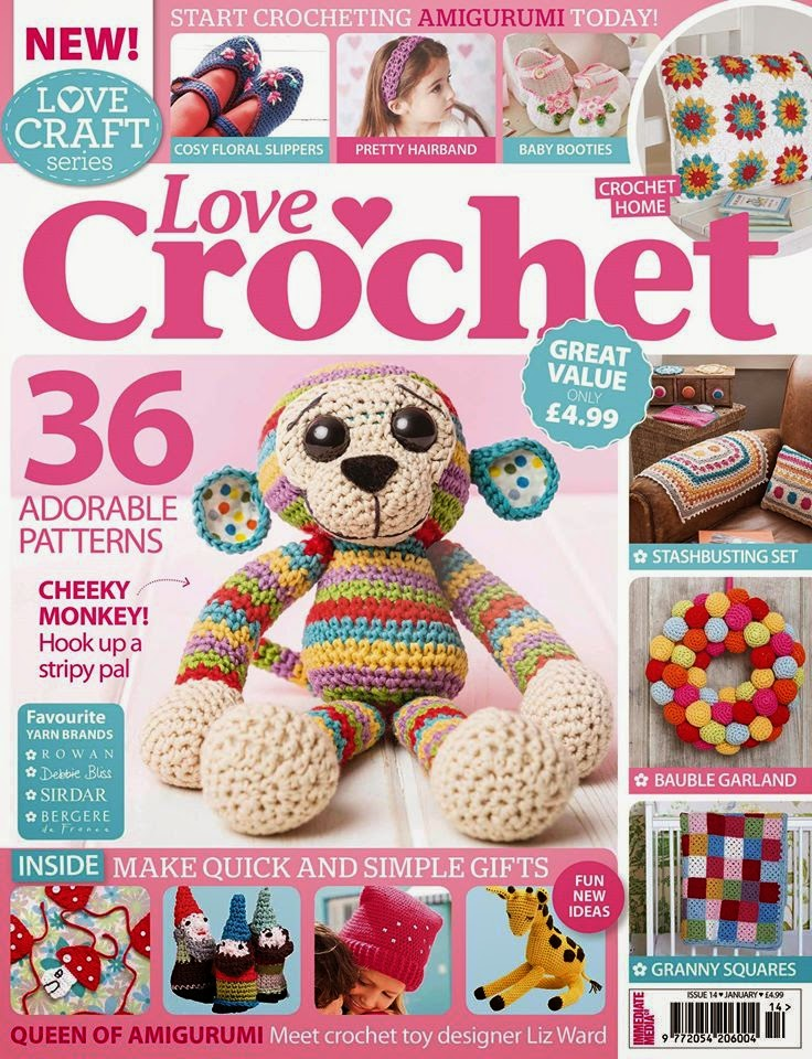 .Love crochet stripy monkey