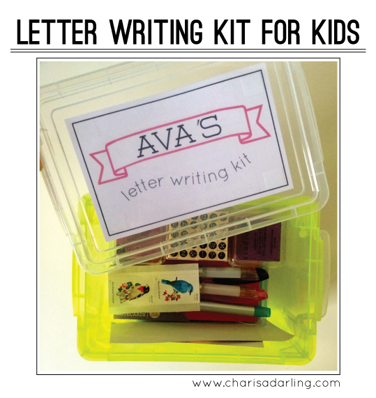 how to make a letter writing kit for kids