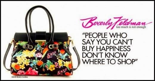 Beverly Feldman Dulce Black Floral Handbag