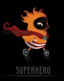superhero, szuperhős, korunk szuperhőse a kerekeken gurul