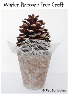 Winter Pinecone Tree Craft by Pet Scribbles