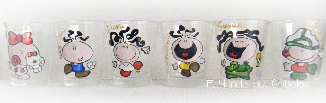 Manualidades creativas vintage chupitos personalizados for Vasos chupito personalizados