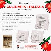 Cursos de Culinária Italiana na ASCIPDA (Consulado de Italia)