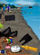 Уборка на побережье - Онлайн игра для девочек