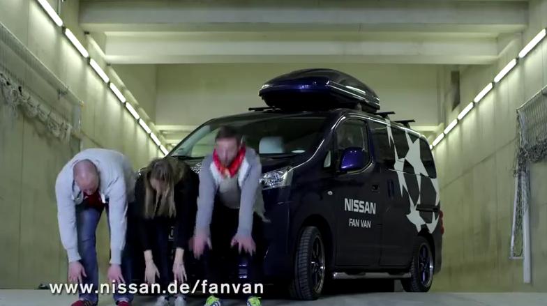 Nissan Fan Van για τους φίλους του ποδοσφαίρου!