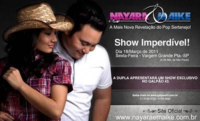 SHOW IMPERDÍVEL DUPLA NAYARA E MAIKE